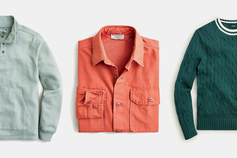 J.Crew Sweatshirt, Workshirt, Cable Knit Sweater