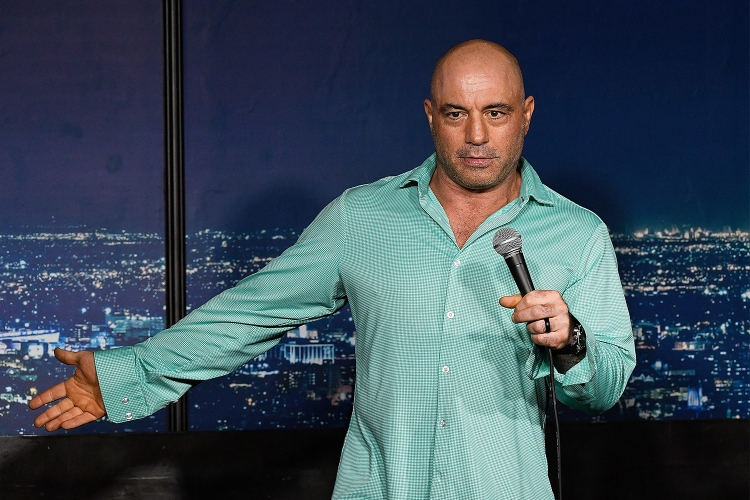 Joe Rogan performs at The Ice House Comedy Club in California in March 2019.