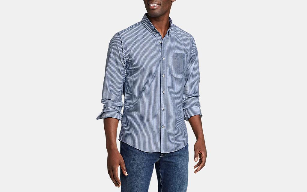 On The Go Long-Sleeve Poplin Shirt
