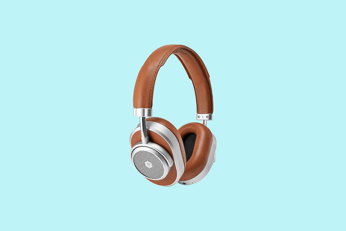 Master & Dynamic's MW65 Active Noise-Cancelling Wireless Headphones in brown leather, now on sale