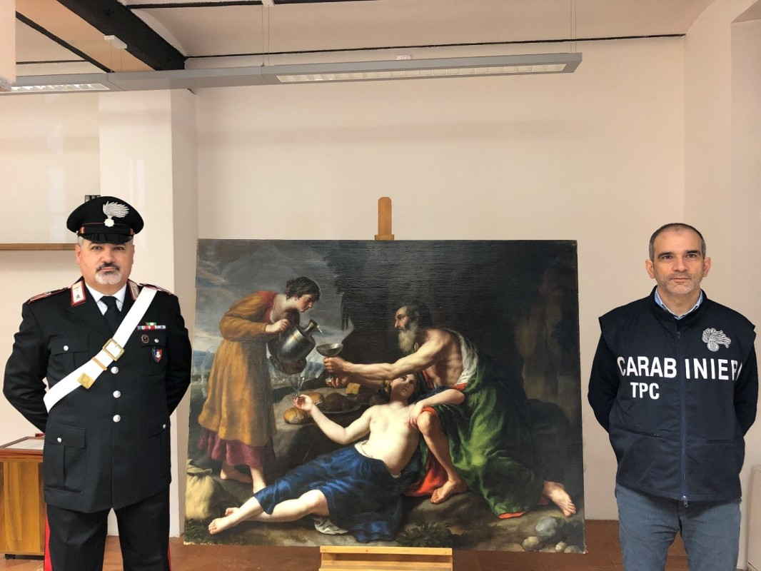 The recovered painting