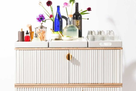 """the bar cart for Party by Numbers, a new """"instant event"""" service for NYC"""