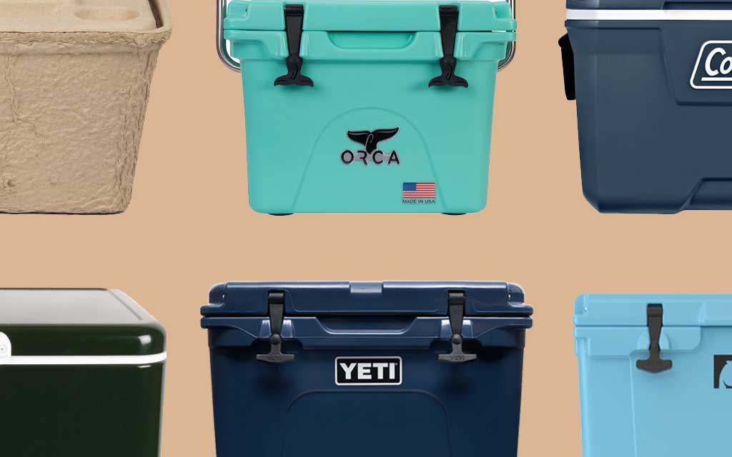 best coolers for camping with various cooler models from yeti to RTIC