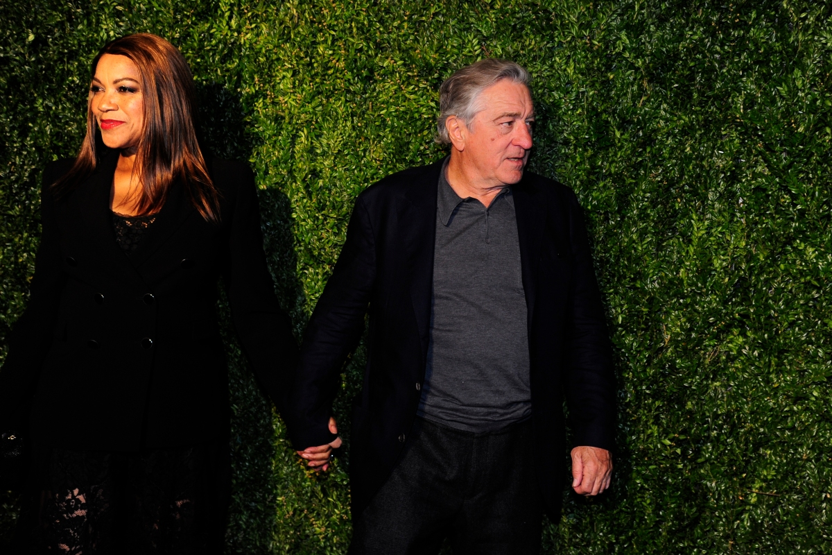 Grace Hightower and Robert De Niro attends CHANEL Tribeca Film Festival Artists Dinner at Balthazar on April 23, 2018 in New York City.