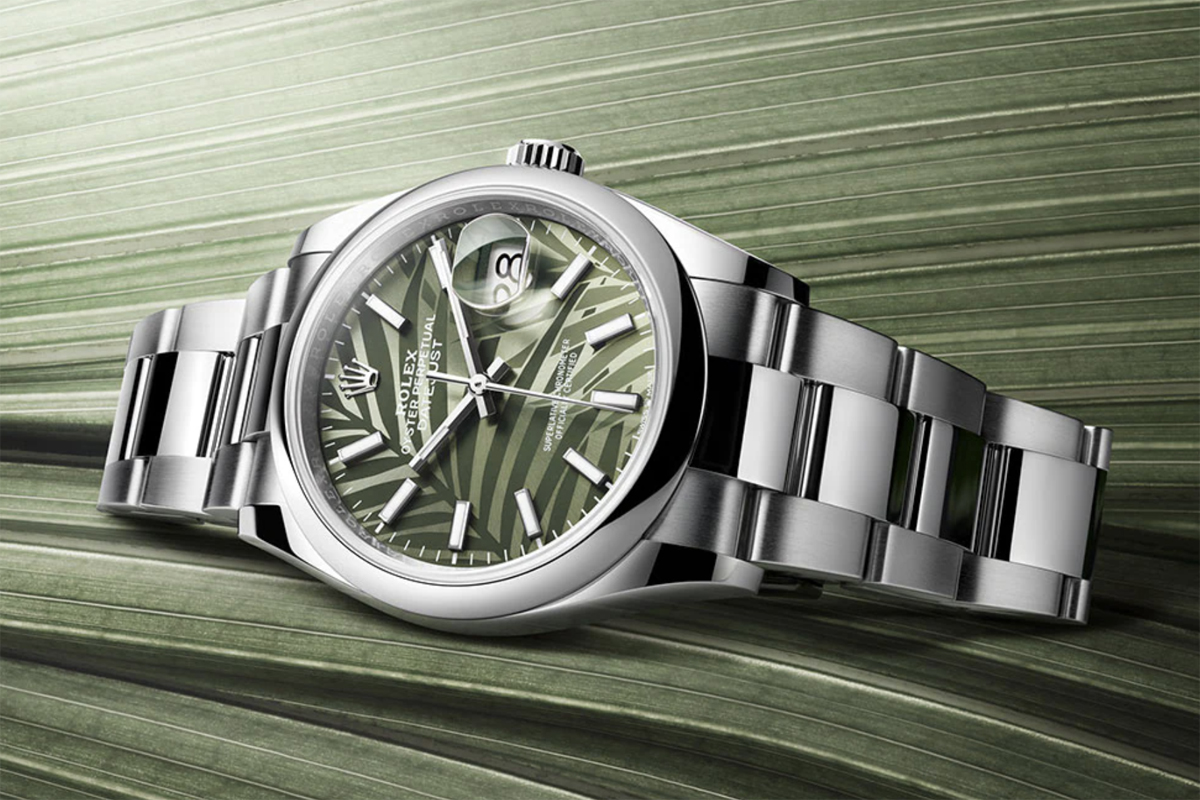 Rolex Datejust with Palm Frond Dial