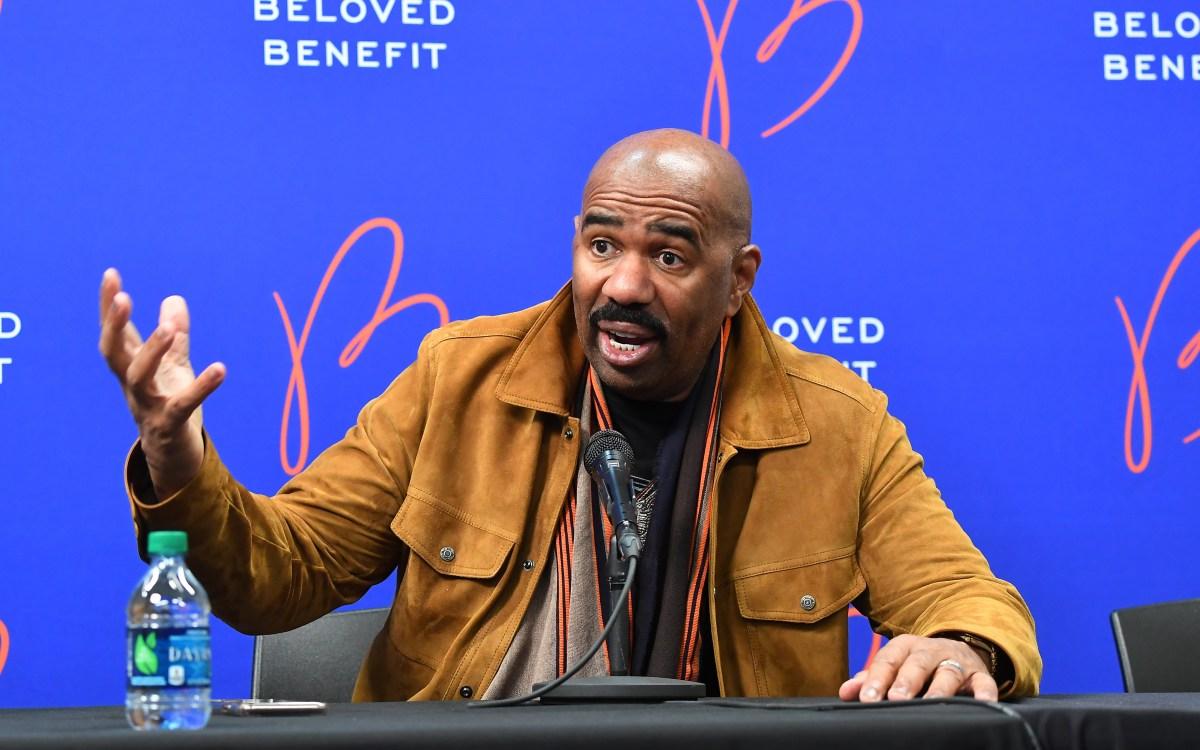Steve Harvey attends 2019 Beloved Benefit at Mercedes-Benz Stadium on March 21, 2019 in Atlanta, Georgia.