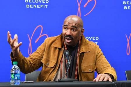 Steve Harvey attends 2019 Beloved Benefit at Mercedes-Benz Stadium on March 21, 2019 in Atlanta, Georgia.