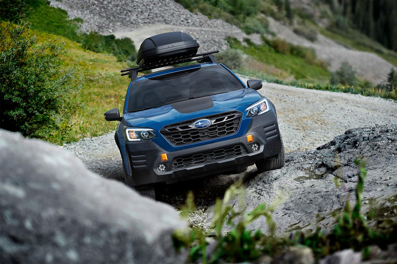 The 2022 Subaru Outback Wilderness rock crawling