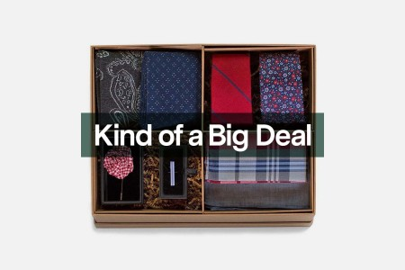 The The Red And Navy Style Box Gift Set from The Tie Bar, now on sale