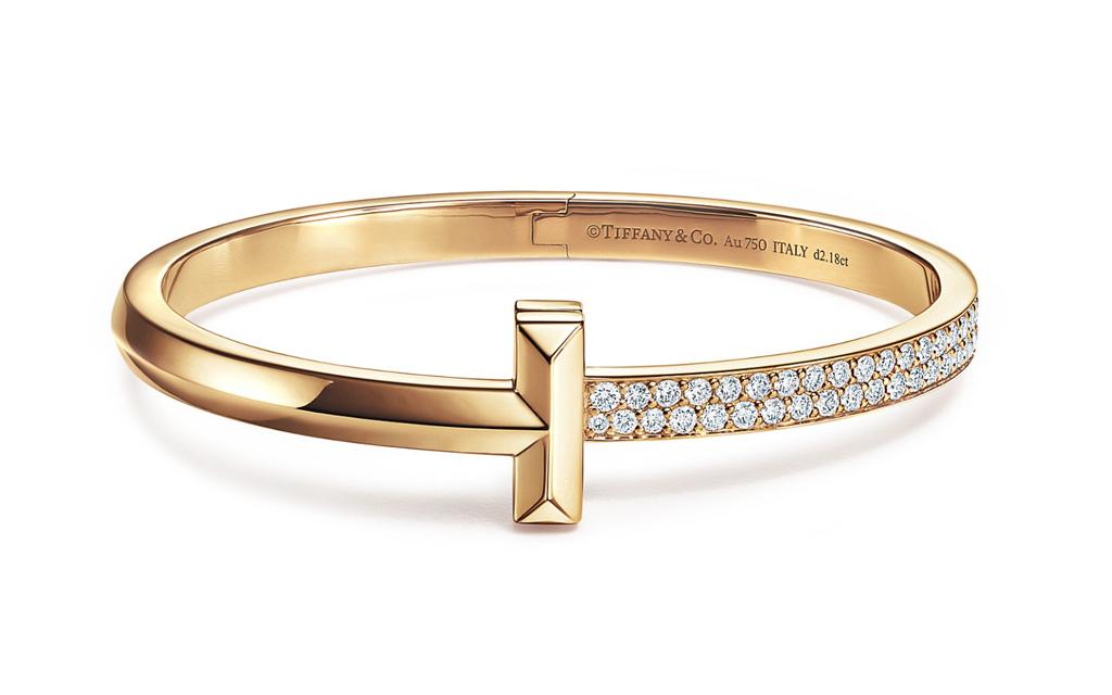 Tiffany T1 Wide Diamond Hinged Bangle