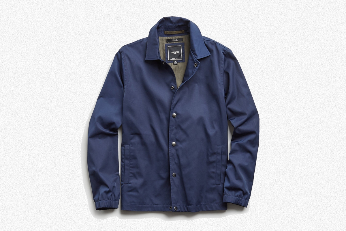 Todd Snyder Made in New York Coach's Jacket in Navy