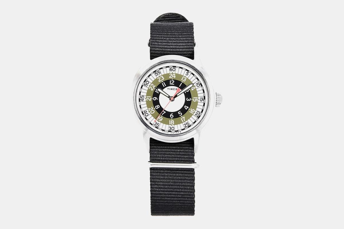 Timex x Todd Snyder Mod Watch in Olive 40mm