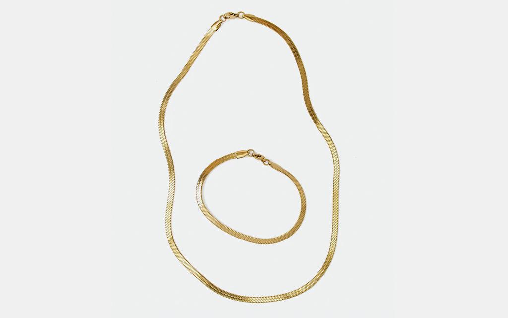 j.bee Herringbone Jewelry Set