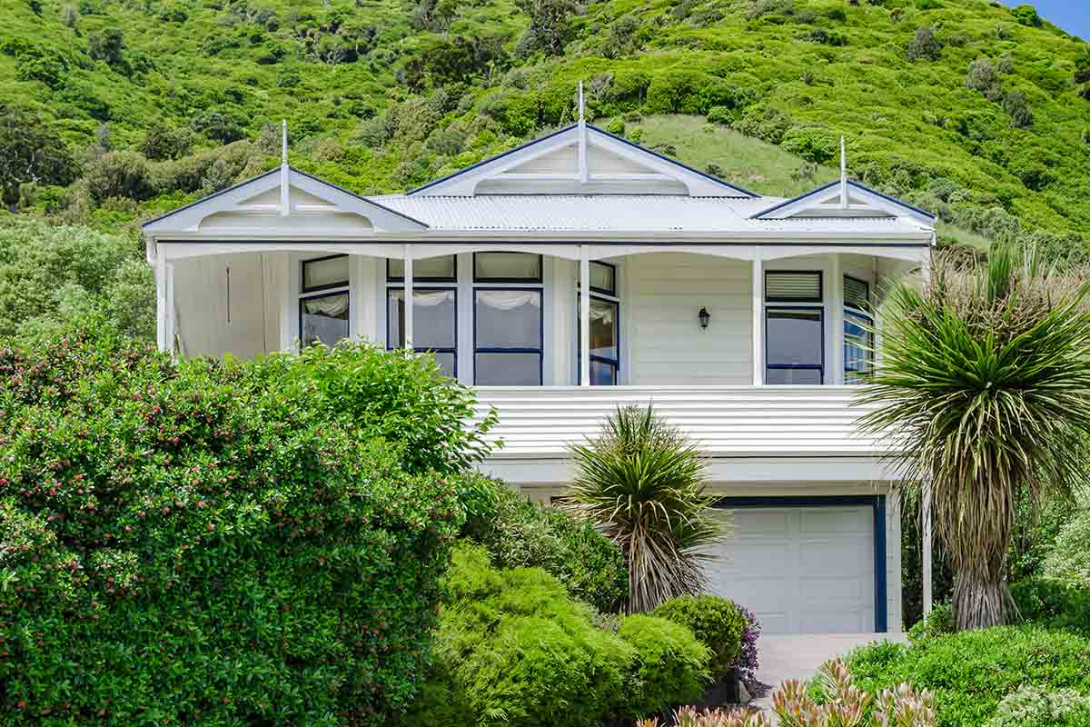 Close-up of a villa in Waikanae, New Zealand