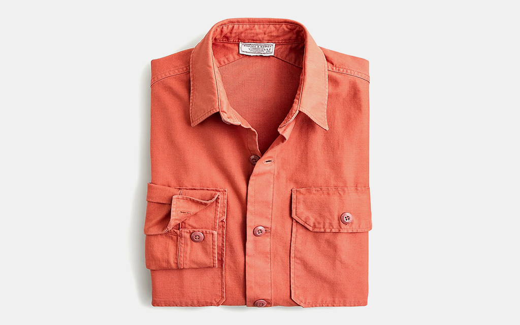 Wallace & Barnes Garment-Dyed Seaside Twill Workshirt