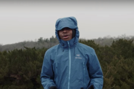 "London-based rapper YT in the music video for his song ""Arc'teryx"""