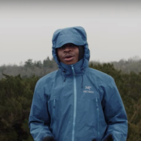 """London-based rapper YT in the music video for his song """"Arc'teryx"""""""