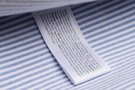 The traceability tag on clothing from menswear company Asket