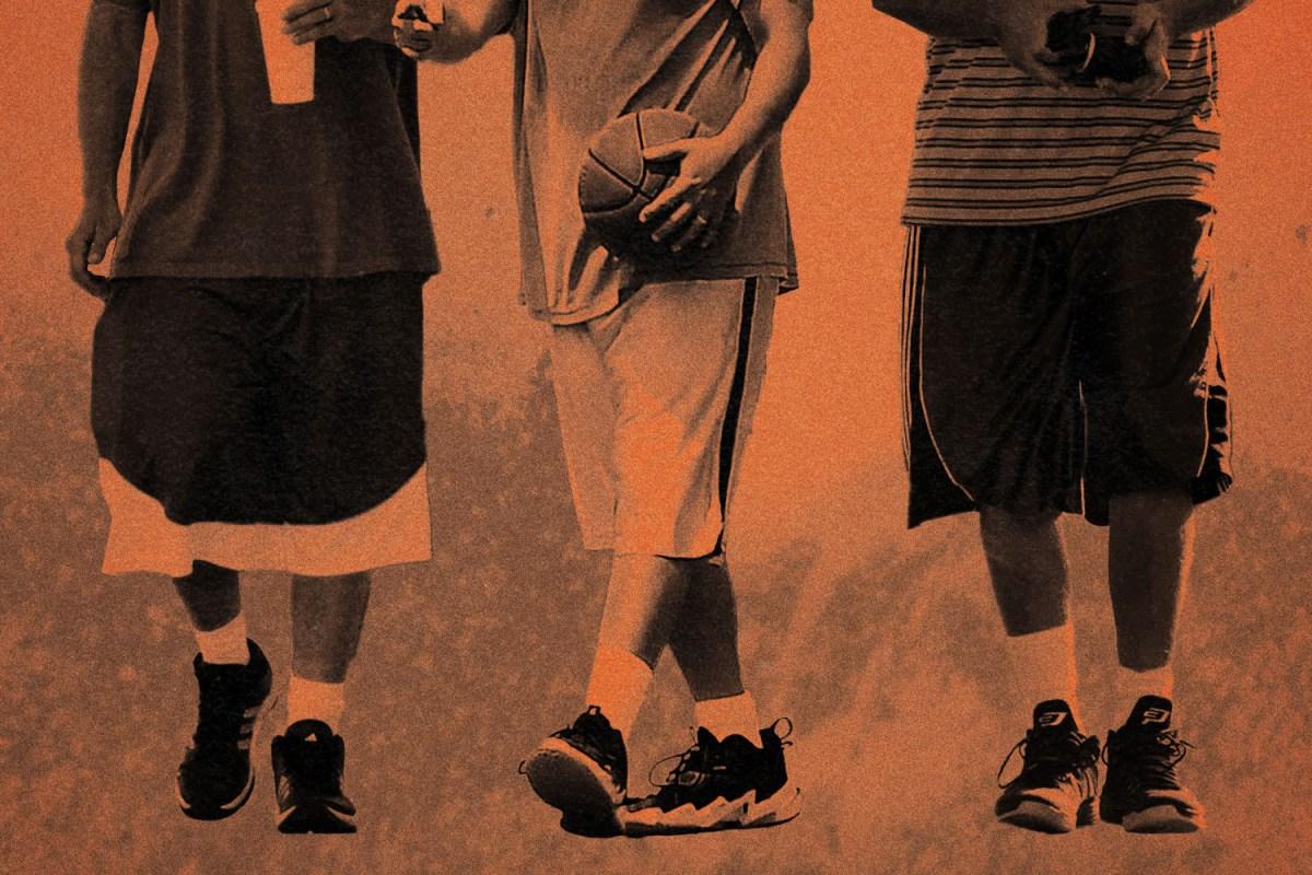 Adam Sandler wearing basketball shorts