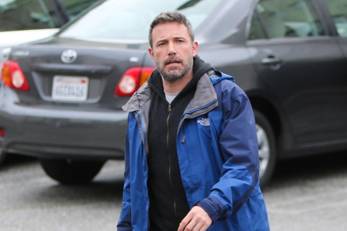 Ben Affleck in blue jacket