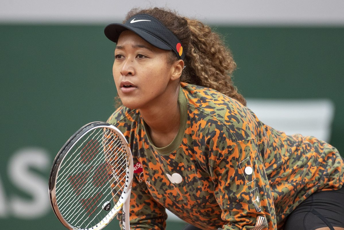 Naomi Osaka in preparation for the 2021 French Open Tennis Tournament.
