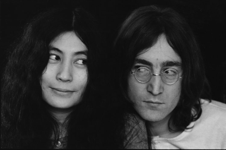Yoko Ono and John Lennon, December 1968.