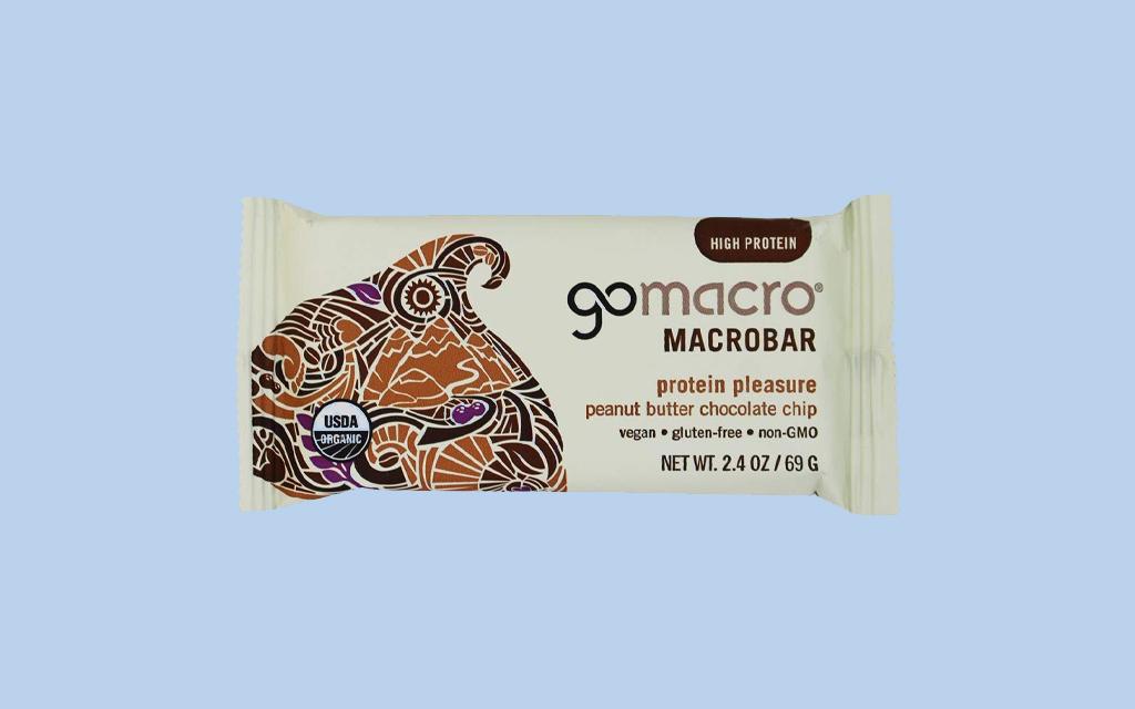 GoMacro Bar peanut butter chocolate chip flavor Trail Snacks