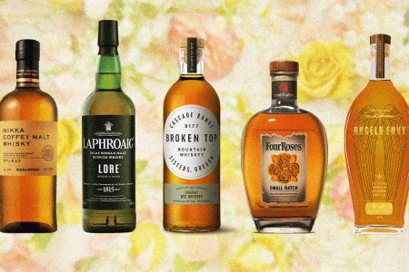 five bottles suggested for a Mother's Day Whiskey guide