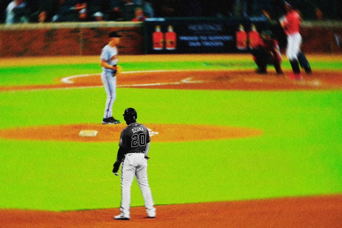 Baseball runner on second