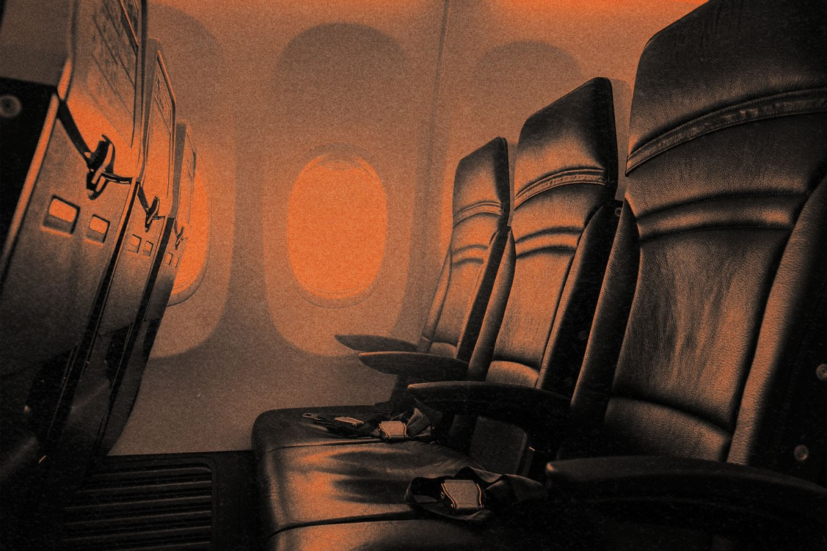 A vacant middle seat