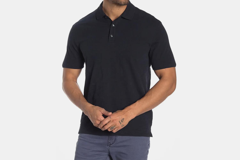 Vince Short Sleeve Slub Polo