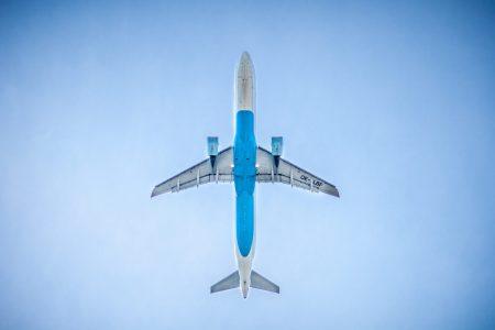 Jet seen from below