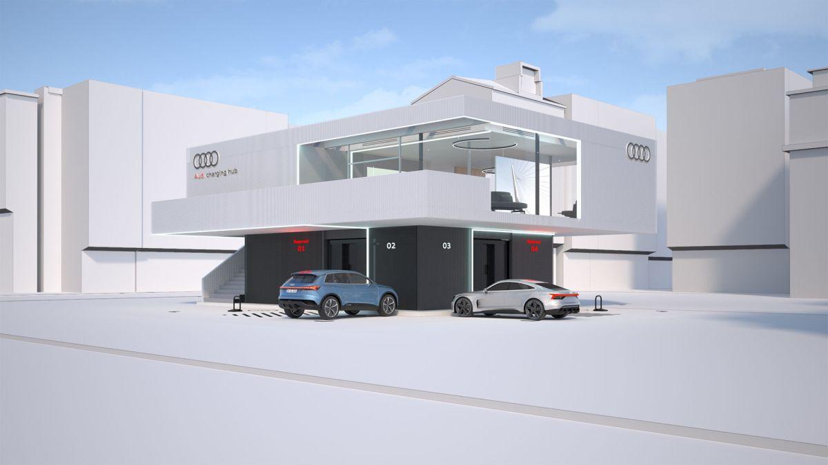 Audi charging station
