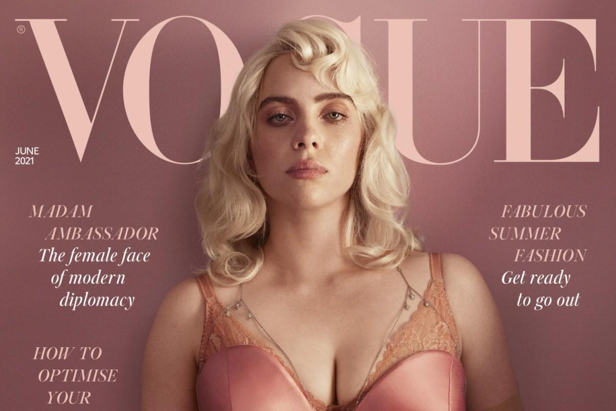 Billie Eilish on the cover of British Vogue