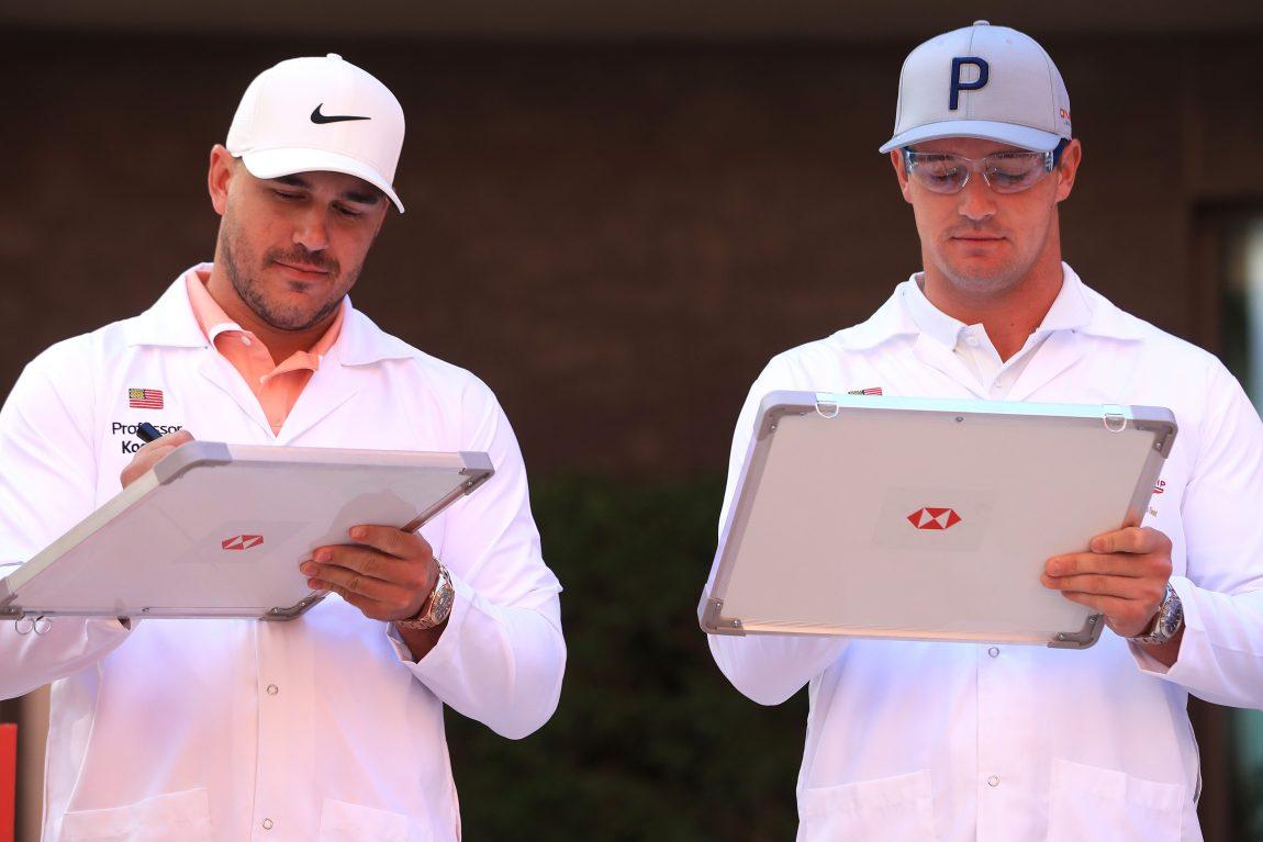 Pro golfers Brooks Koepka and Bryson DeChambeau