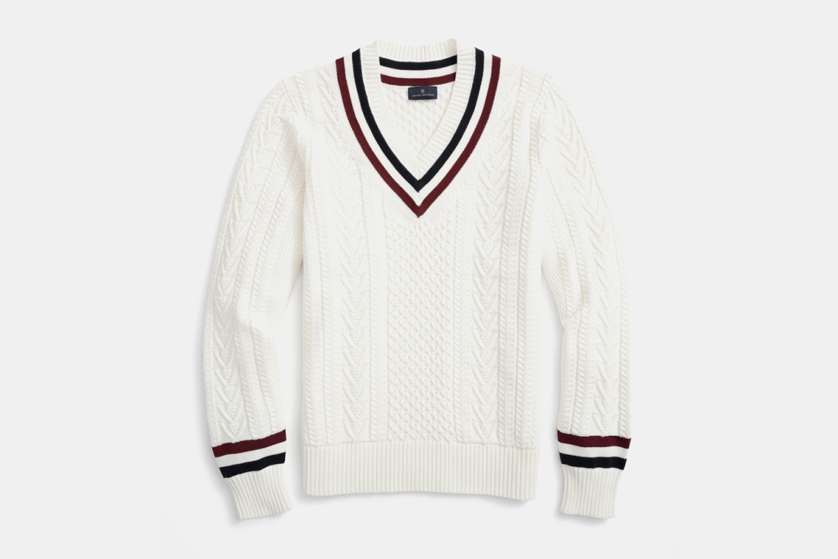 Brooks Brothers Supima Cotton Tennis Sweater