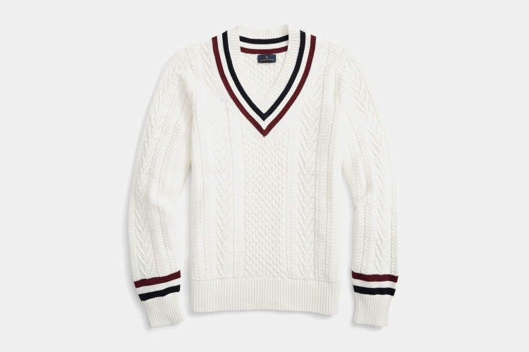 Brooks Brothers Supima Cotton Tennis Sweater