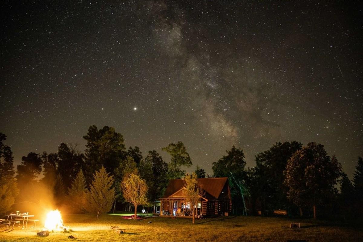 Cabin on a private island