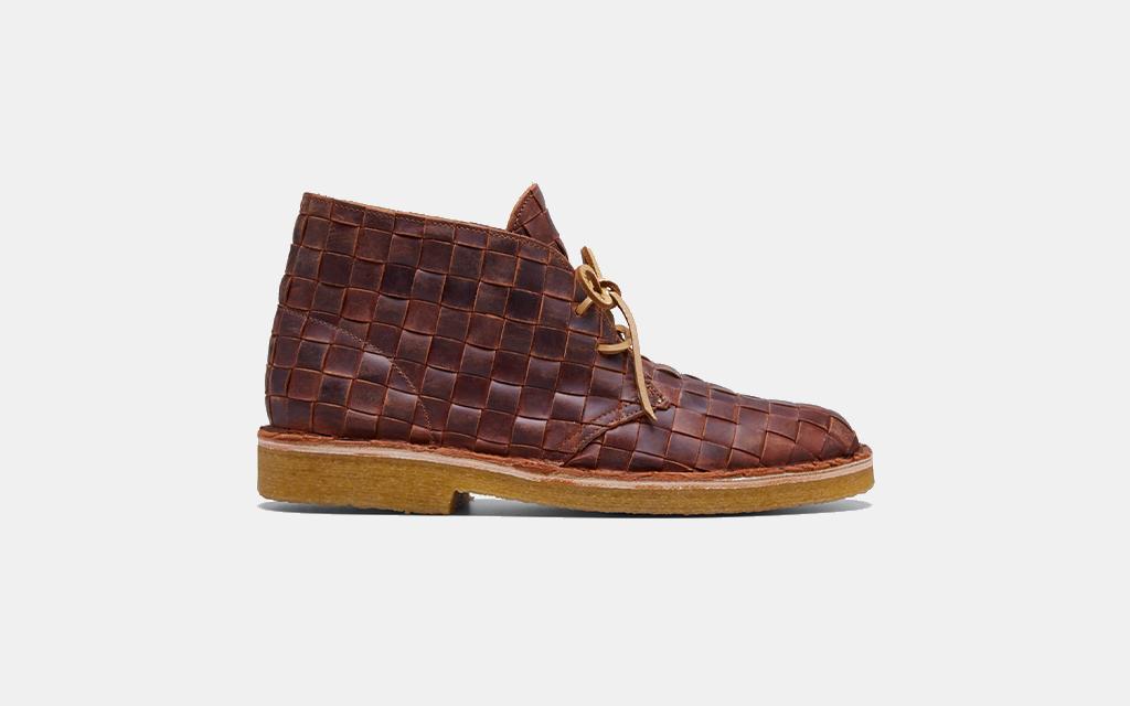 B x Clarks Originals Desert Beewax Woven Chukka Boots