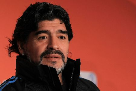Diego Maradona during the 2010 World Cup