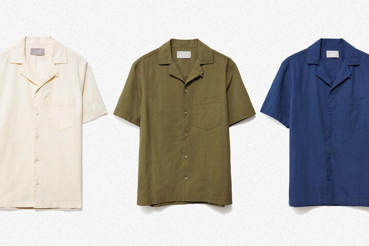 Everlane Short-Sleeve Seersucker Shirt
