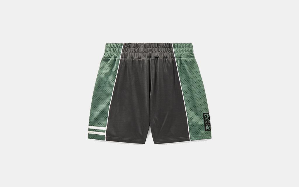 Fendi Panelled Mesh and Jersey Shorts