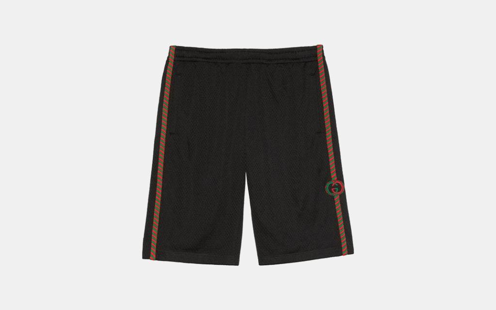 Gucci Patch Detailed Mesh Bermuda Shorts