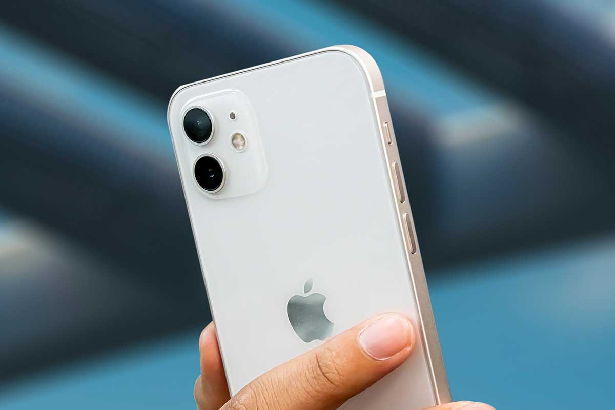close-up of the Apple iPhone 12 - a new security flaw was just fixed for the phone's operating system