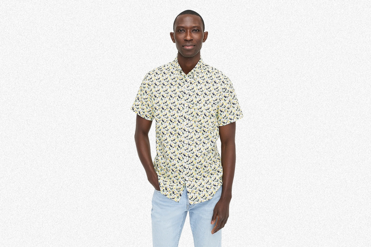 J.Crew Short-Sleeve Linen Shirt