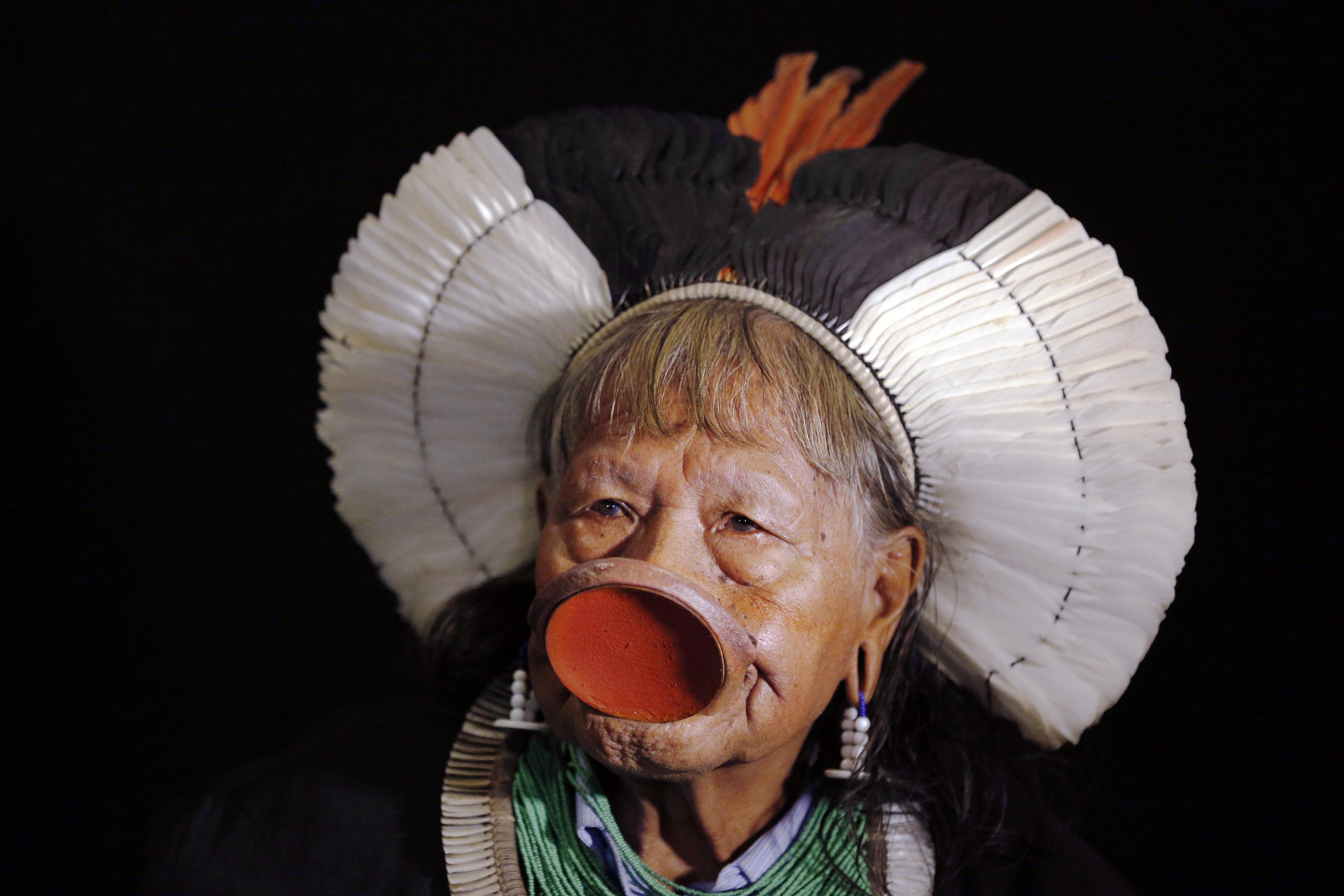 Kayapo chief Raoni Metuktire in 2014