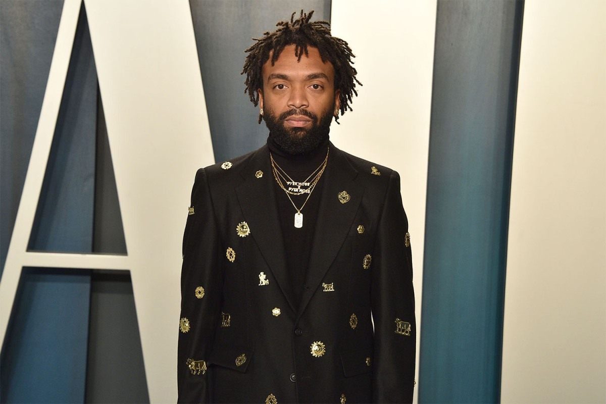 Pyer Moss founder Kerby Jean-Raymond at the Vanity Fair Oscar After Party in 2020.