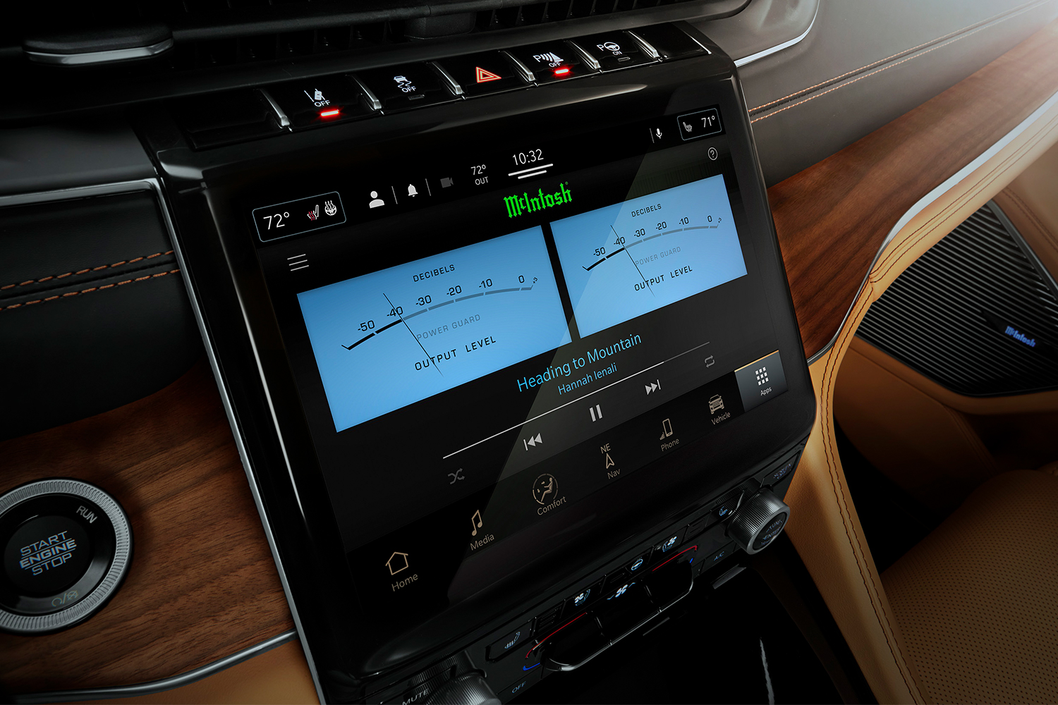The McIntosh Laboratory sound system in the new Jeep Grand Wagoneer