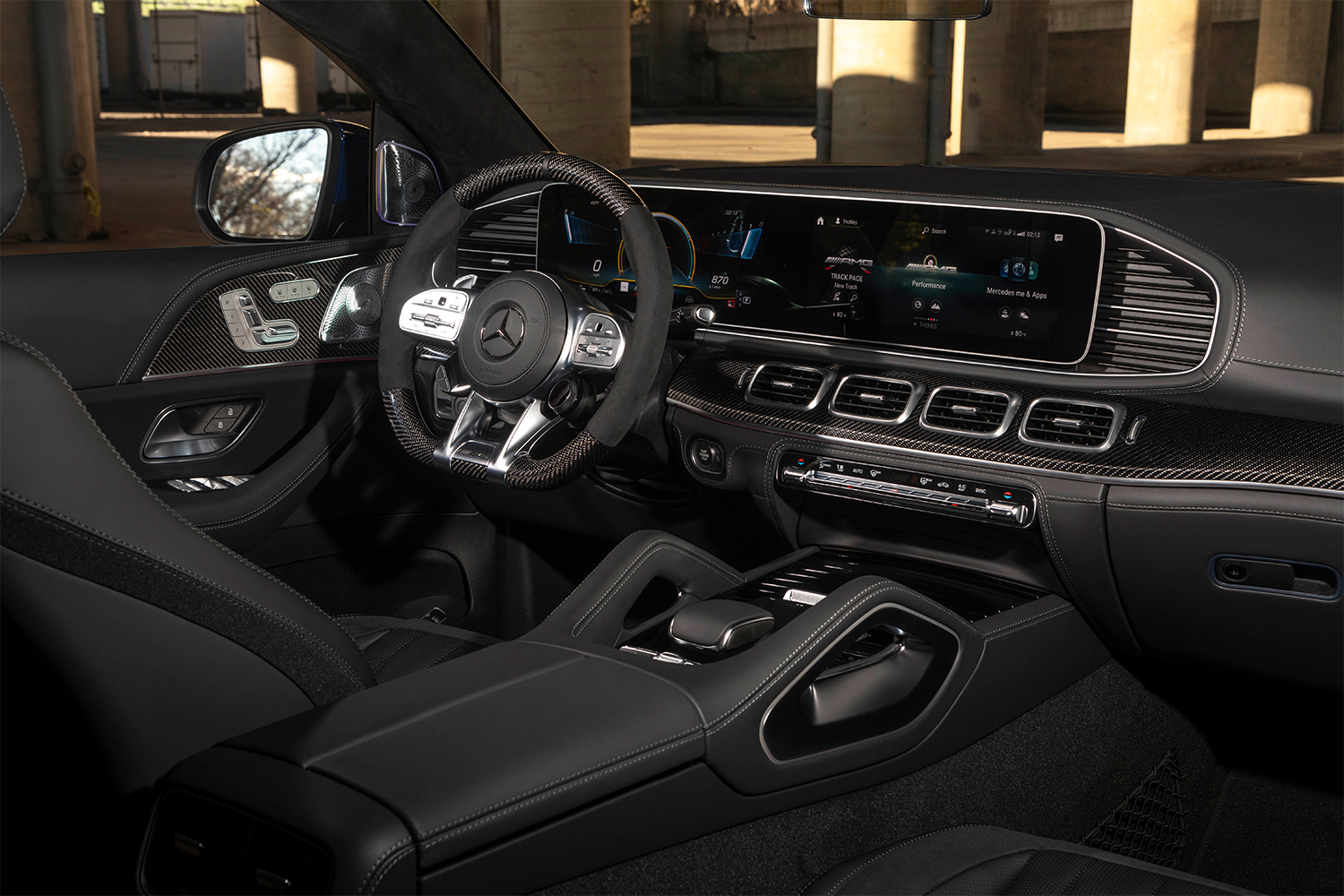 The front dash of the Mercedes-AMG GLE 63 S Coupe