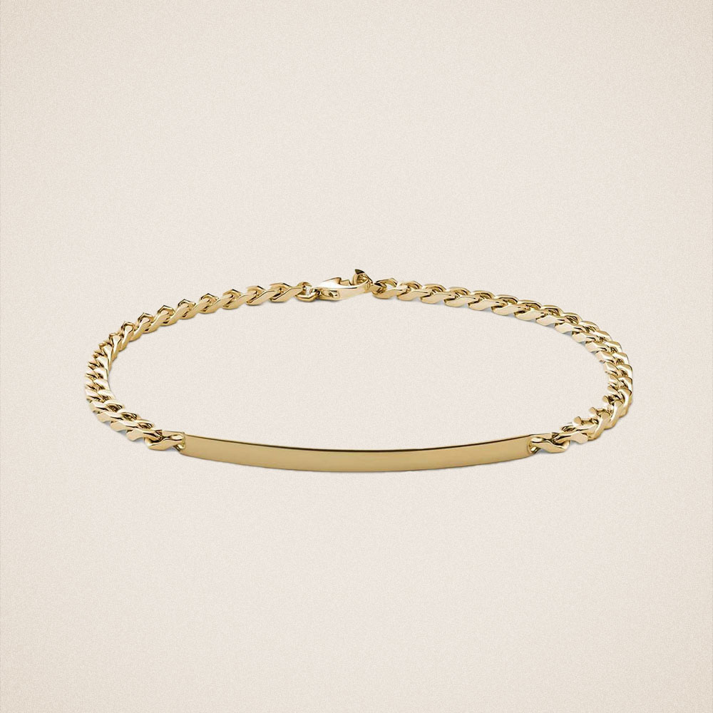 Miansai 3mm ID Chain Bracelet in Gold Vermeil